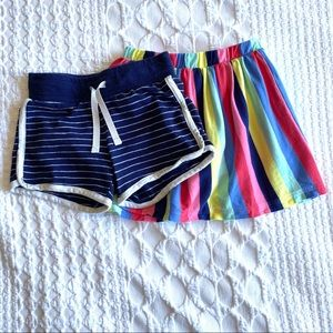 Lot Of 2 Carters/Cat&Jack Shorts & Skort Size 4T